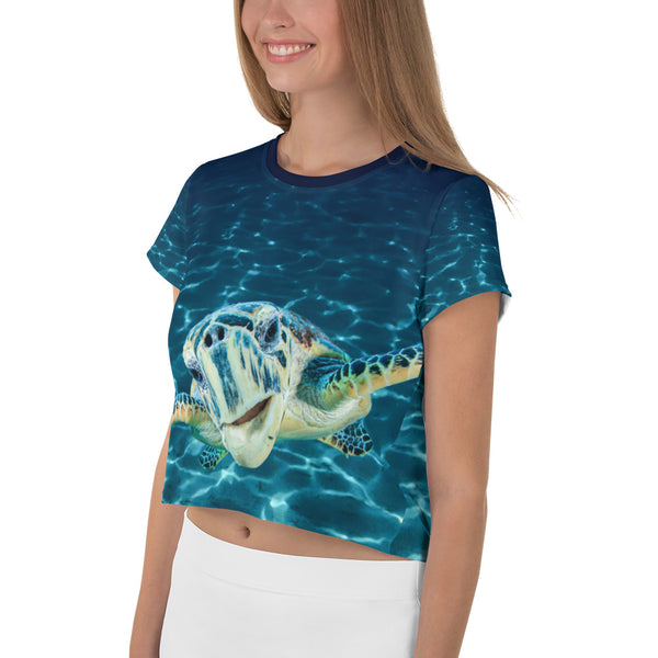 Cool Dude Turtle Crop Tee