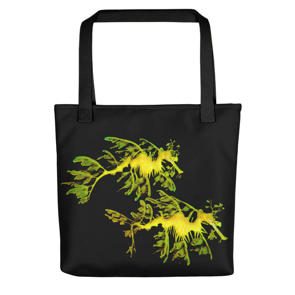 Leafy Sea Couple Dragon  Tote bag