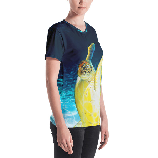 Jumpy Turtle Women's V-neck