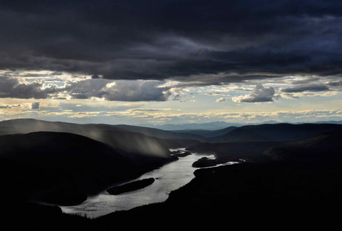 YUKON RIVER FROM THE MIDNIGHT DOME