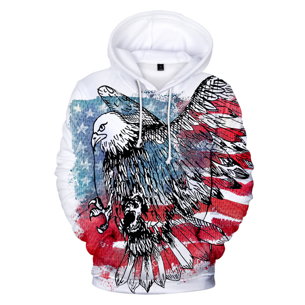 USA Independence Day National flag Unisex Casual Hoodie for adult and kids