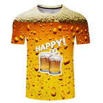 Cool 3D Beer Printed T-shirt