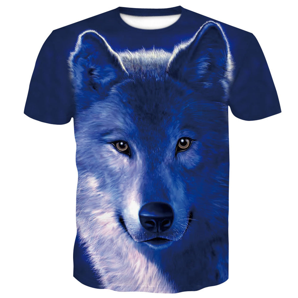 Trend Snow Wolf Short Sleeve T-Shirt