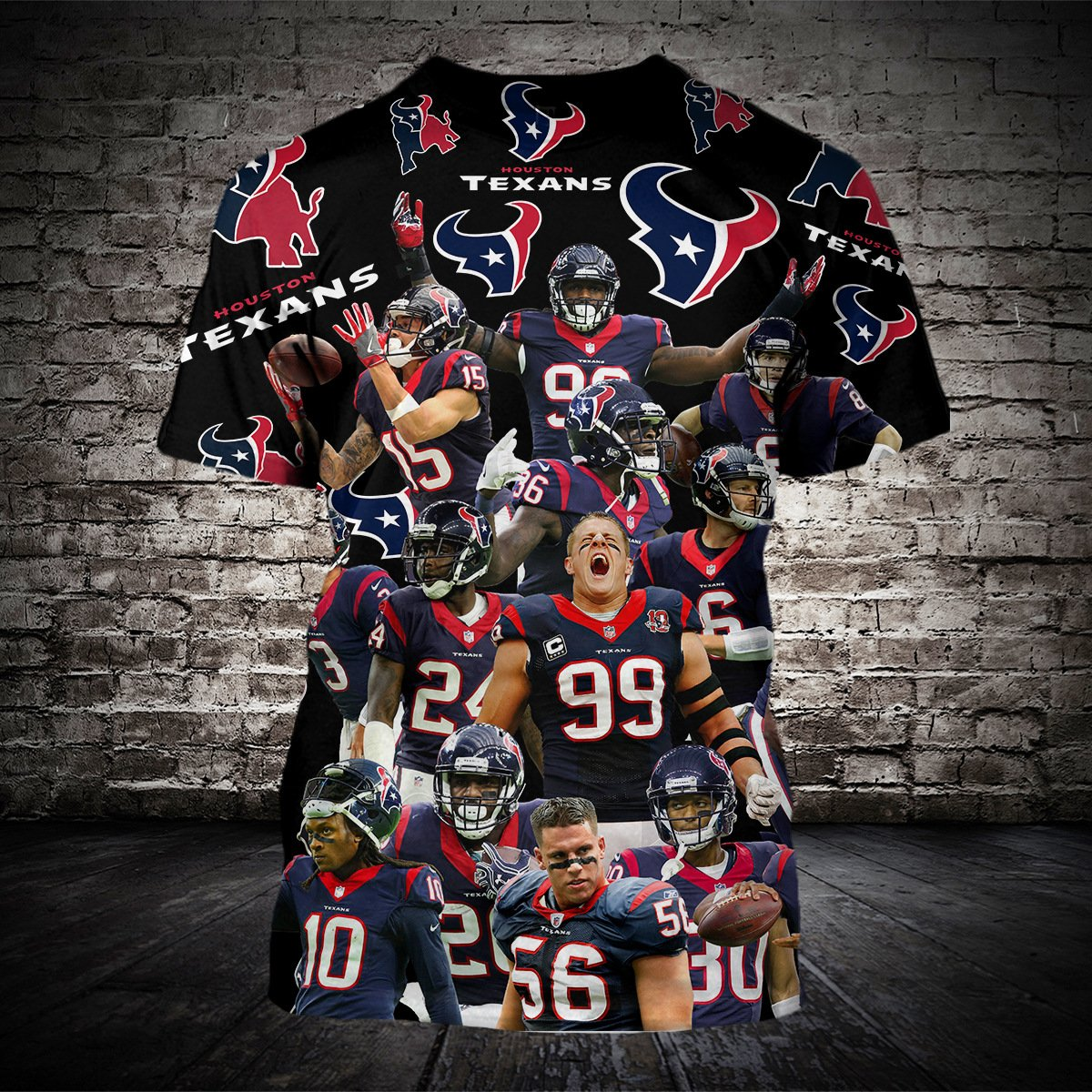 NFL Houston Texans Digital Print T-shirt