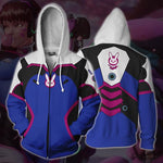 Overwatch DVA 3D Printed Zip-up Cardigan Hoodie Coat