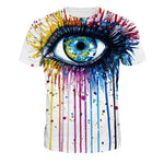 Unisex 3D Big Eyes Print T-shirt