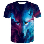 Trend Snow Wolf 3D Digital Print T-Shirt