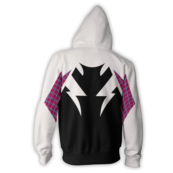 4beeab1f3 Cool Spider-Man Gwen Stacy Zip Up Hoodie for Adult and Kid – popmavi