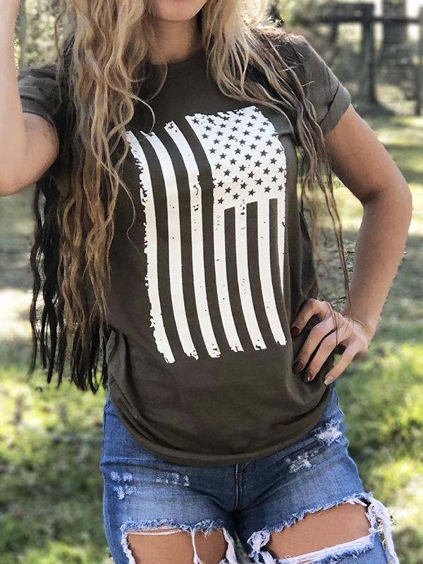 American Flag Home Of The Brave Shirt