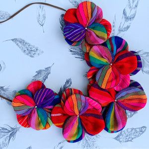 Rebozo Flowers Necklace Multicolor