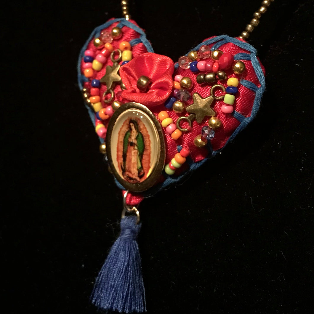 Mary's Heart Necklace