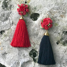 Load image into Gallery viewer, Bouquet with Tassel Earrings
