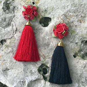 Bouquet with Tassel Earrings