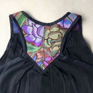 V-Neck Embroidered Tank Top