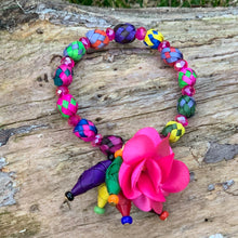 Load image into Gallery viewer, Multicolor Palm Bracelet with Flower