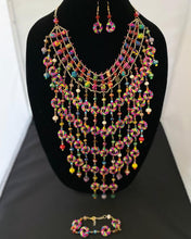 Load image into Gallery viewer, Palm Tree Donuts Cascade Necklace Set