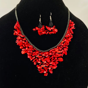 Stones Necklace Set