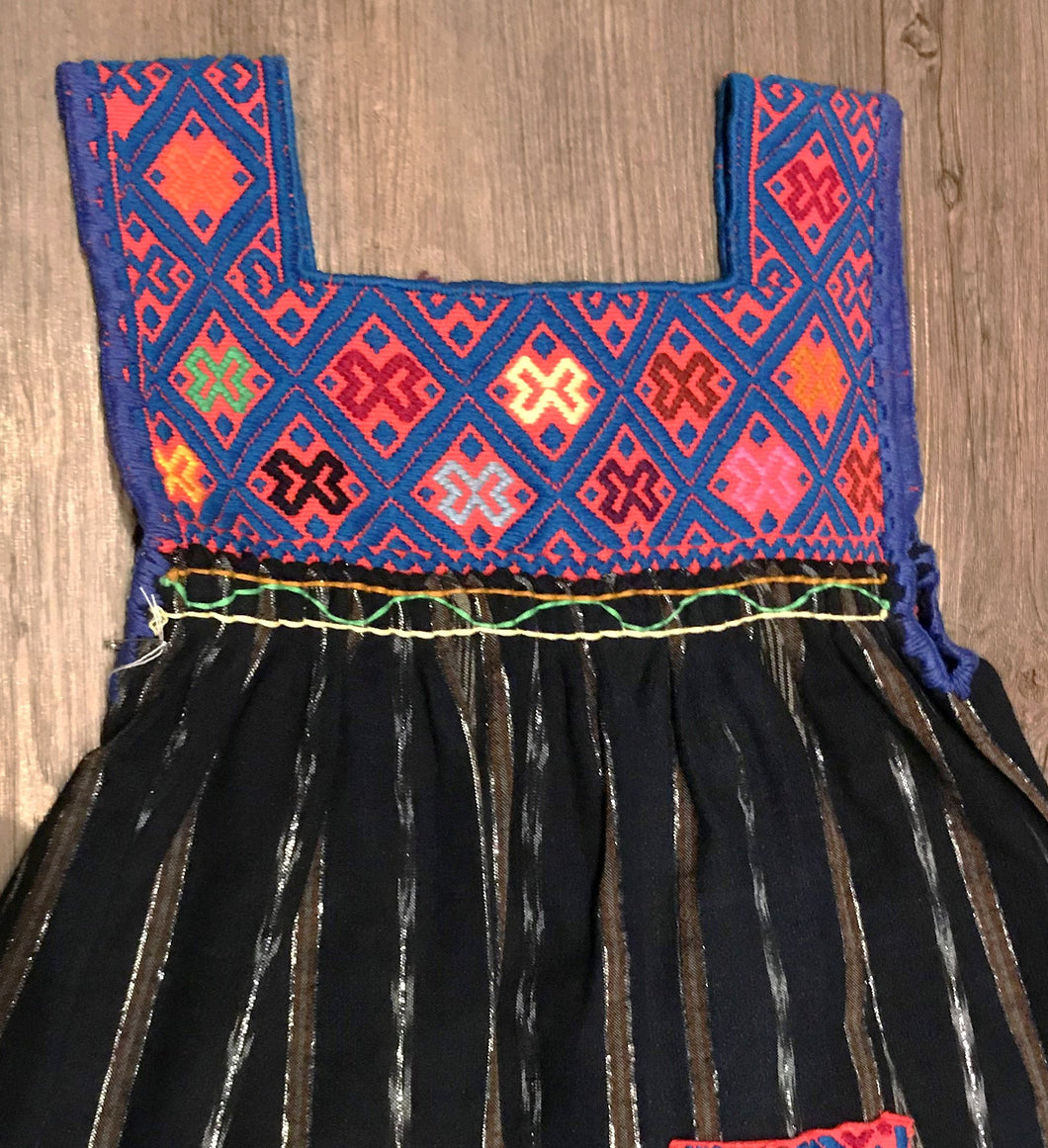 Zinacantan Embroidered Girl Dress
