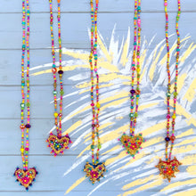 Load image into Gallery viewer, Colorful Heart Necklace with Stones