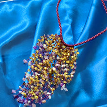 Load image into Gallery viewer, Amber and Amethyst Cascade Necklace
