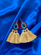 Load image into Gallery viewer, Stones and Tassel Earrings