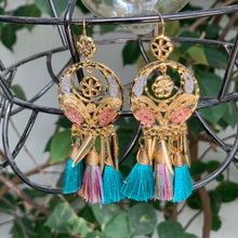 Load image into Gallery viewer, Filigree and Tassel Earrings