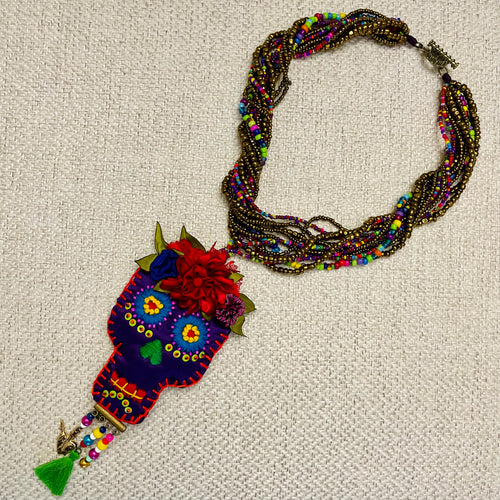 Calavera Beaded Necklace