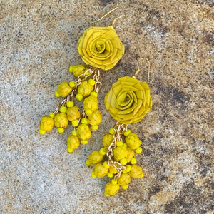 Palmtree Flower Cluster Earrings