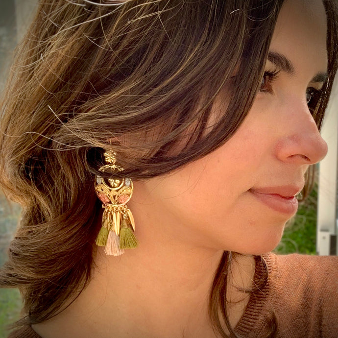 Filigree and Tassel Earrings