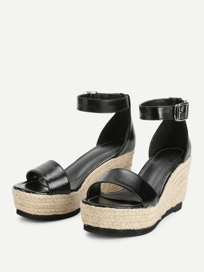 Ankle Strap Espadrille Wedges