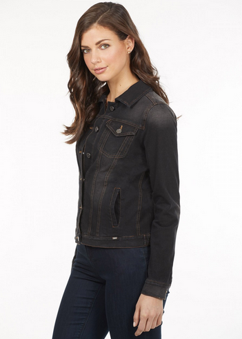 Classic Jean Jacket-black-side