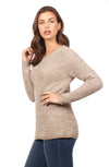 Solid Shaker Crew Sweater-sand-side