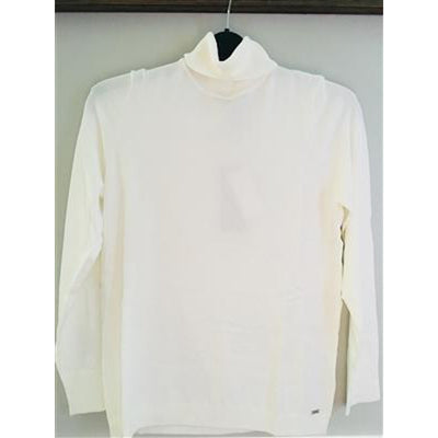 Long Sleeve Turtle Neck-white-front