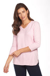 V Neck Top-rose-front