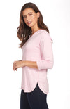V Neck Top-rose-side