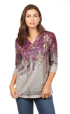 Wisteria Print Top-front