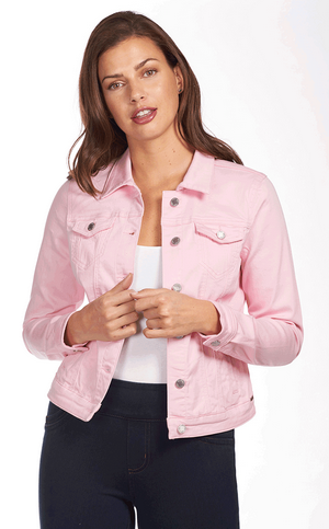 Classic Jean Jacket - Soft Hues Denim-pink-front