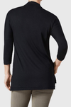Sienna Jersey (with Neckline Detail)-black-back