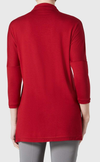 Sienna Jersey (with Neckline Detail)-brick red-back