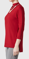 Sienna Jersey (with Neckline Detail)-brick red-side