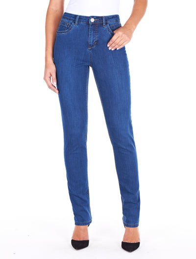 Olivia Slim Leg - Supreme Denim_Delight Wash_Front