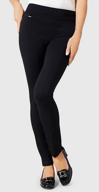 "Hollywood 31"" Slim Pant-black-front"
