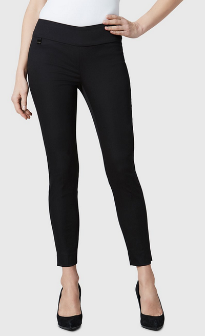 "Jupiter Cotton Stretch - 28"" Slim Ankle-black-front"