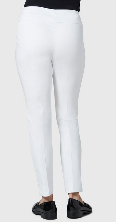 "Jupiter Cotton Stretch - 28"" Slim Ankle-white-back"