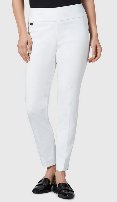 "Jupiter Cotton Stretch - 28"" Slim Ankle-white-front"