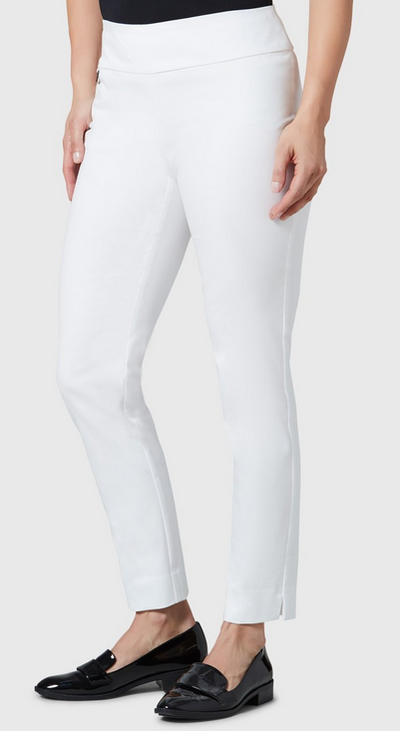"Jupiter Cotton Stretch - 28"" Slim Ankle-white-side"