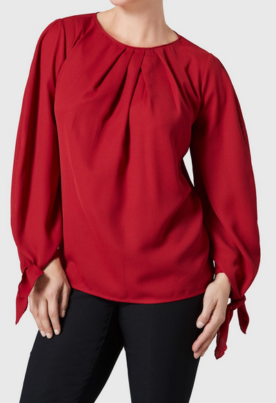 Lola Blouse-brick red-front