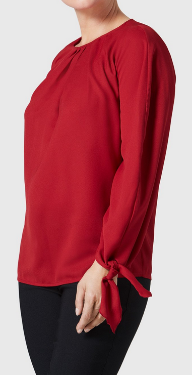 Lola Blouse-brick red-side