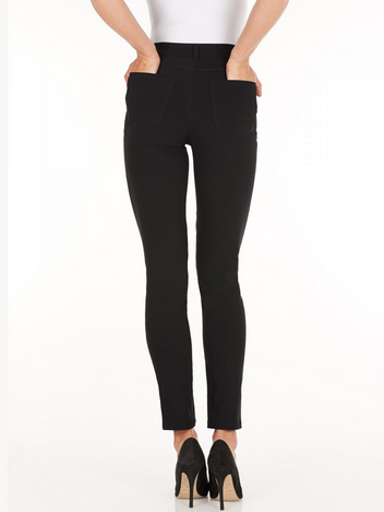 Olivia Slim Leg - Technoslim_Black_Back