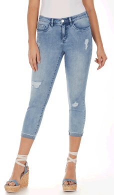 Olivia Roll Up Crop-skywash-front